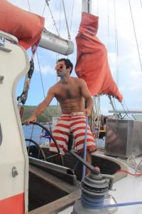 Ricardo lär sig segla